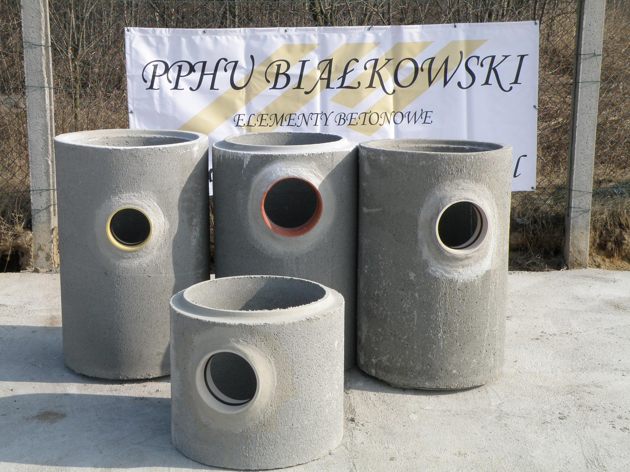 Nadstawki betonowe DN500 z przejsciami